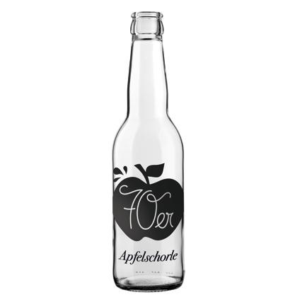 Apfelschorle personalisierte Flasche