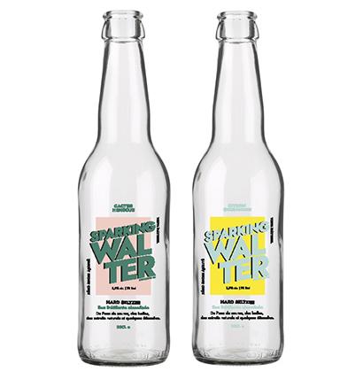 Personalisierte Glasflasche hard seltzer