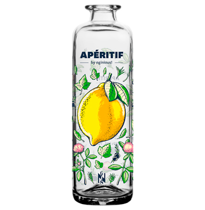 Bottiglia di gin personalizzata