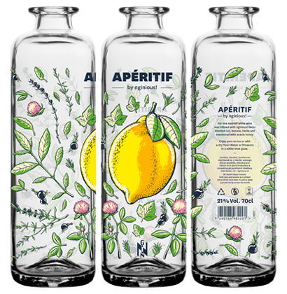Bouteille à gin personnalisée
