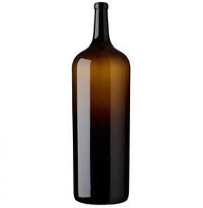 Bordeaux wine bottle cetie 1800 cl green French