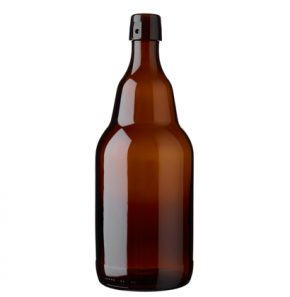 Bottiglia di birra con chiusura meccanica montata 200cl Steinie marrone