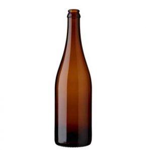 Bottiglia di birra corona 75cl Belgium marrone (26mm)