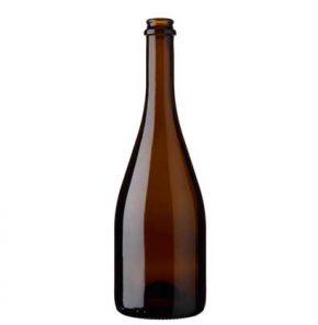 Bottiglia di birra Craft Beer tappo corona 75 cl quercia Cuvée Tradition