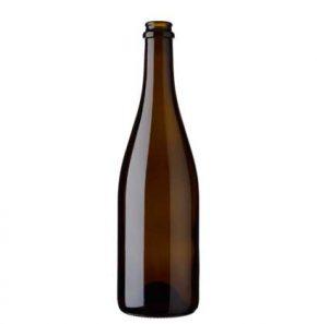 Bottiglia di birra Craft Beer tappo corona 75 cl quercia leggera