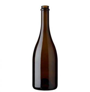 Bottiglia di birra Craft Beer tappo corona 75cl antico Grand Cru