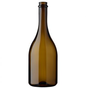 Bottiglia di birra Craft Birra 75cl corona 29mm Versa leggera antico