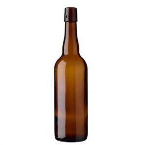 Bottiglia di birra tappo meccanico 75cl marrone