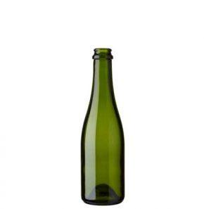 Bottiglia di Champagne Chopine tappo corona 37.5 cl verde