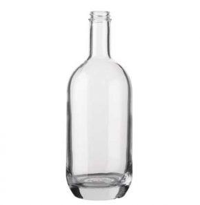 Bottiglia per distillati Spirit fascetta 100cl bianco Moonea