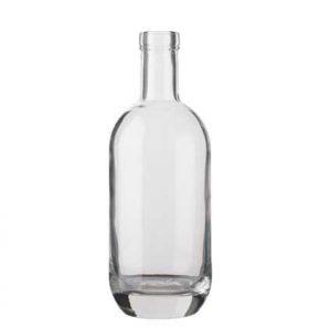 Bottiglia per distillati Spirit fascetta 70cl bianco Moonea