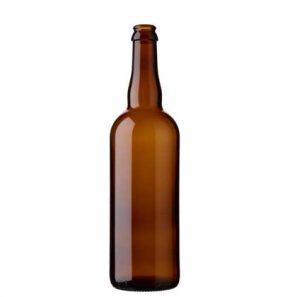 Bouteille à bière couronne 75cl brun (26mm)