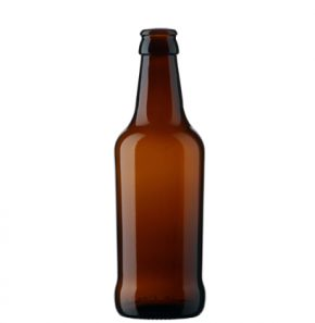 Bouteille à bière Craft Beer couronne 33cl Tapered brun
