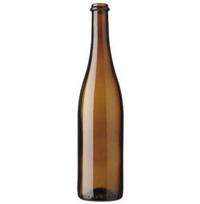 Bouteille à vin Rhénane anello 75 cl brun Neuchâteloise