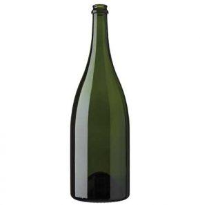 Champagnerflasche 1.5 l grün schwer magnum