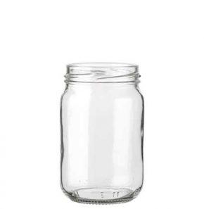 Pot à conserve 212 ml blanc TO58 forme haute