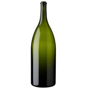 Salmanazar wine bottle 900 cl green