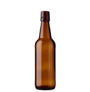 Swing top beer bottle 50cl Steinie brown