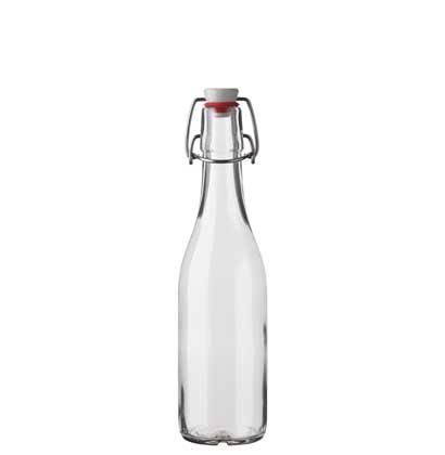 Swing top water bottle Gazosa 35 cl white