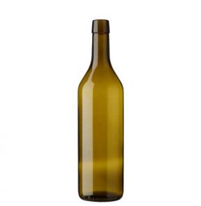 Vaud wine bottle bartop 75 cl olive green