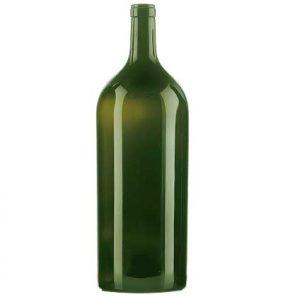 Weinflasche Bordeaux Band 6-Liter grün Française