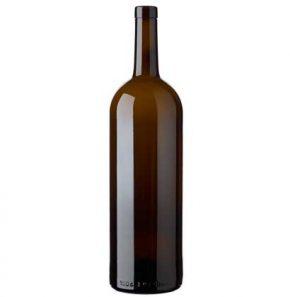 Weinflasche Bordeaux Oberband 1.5 l antik Magnum Prestige