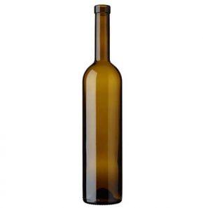 Bordeaux wine bottle bartop 75 cl oak 350mm