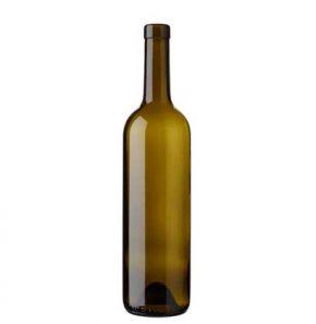 Bordeaux wine bottle bartop 75 cl olive green Europe 2