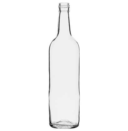 Bordeaux wine bottle BVS 70 cl white