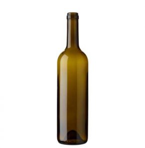Bordeaux wine bottle cetie 17.5mm 75cl olive green Europe