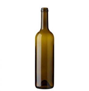 Bordeaux wine bottle cetie 17.5mm 75cl olive green Europe