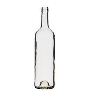 Bordeaux wine bottle cetie 75cl white Tradition H63mm