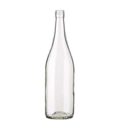 Burgundy wine bottle BVS 75 cl white