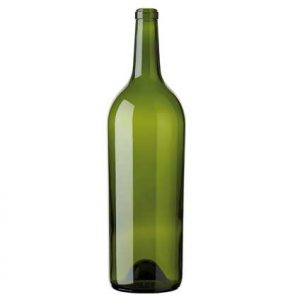 Bordeaux Magnum wine bottle cetie 150 cl green heavy