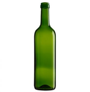 Bordeaux wine bottle cetie 75cl olive green