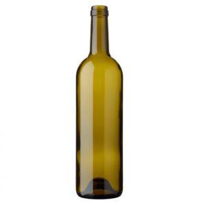 Bordeaux wine bottle cetie 75cl olive green Tradition H63mm