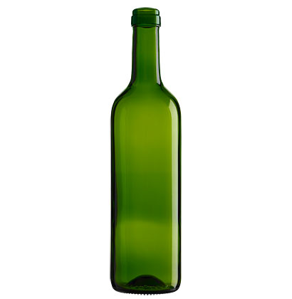 Bordeaux wine bottle cetie 75cl olive green