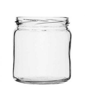 Jam Jar 408 ml white TO82