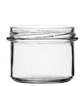 Jar 235 ml white TO82
