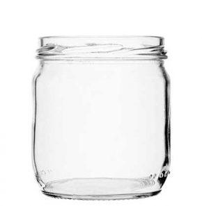 Jar 425 ml white TO82