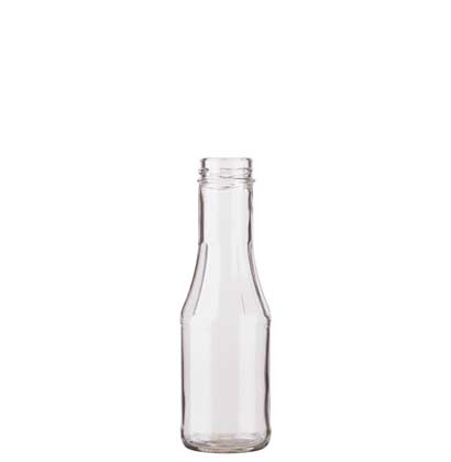 Ketchup bottle 250ml white TO38/H12mm with facets