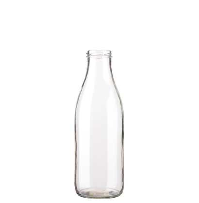 Milk bottle 100 cl white TO48 Fraîcheur