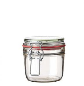Swing top Jar 400 ml white and red seal
