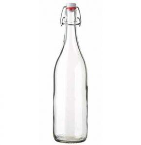 Swing top water bottle 100 cl white