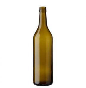 Vaud wine bottle BVS 70 cl olive green