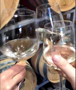 The tester of the wine glass Karen Valloton