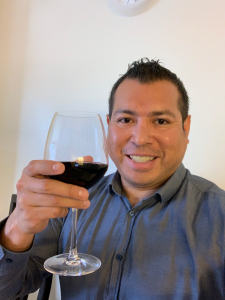 The tester of the wine glass Danny Palomino