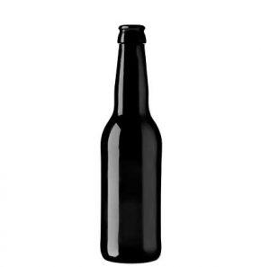 Beer bottle crown 33cl Long Neck Black