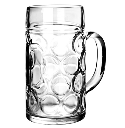 Beer glass Isar mug 63 cl sealed 5 dl
