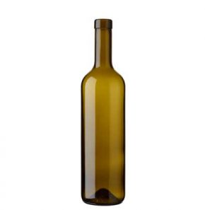 Bordeaux wine bottle bartop 70 cl olive green Prestige